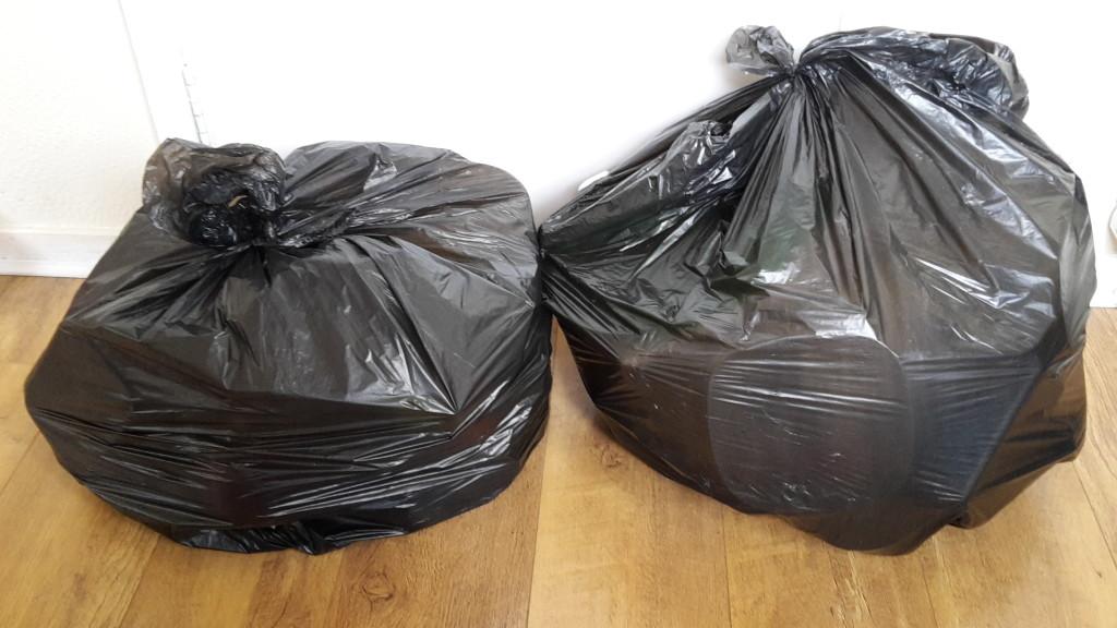 Bin bags of plastic