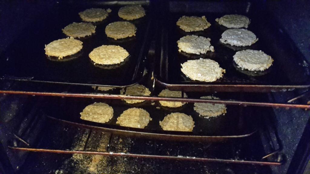 Baking oatcakes