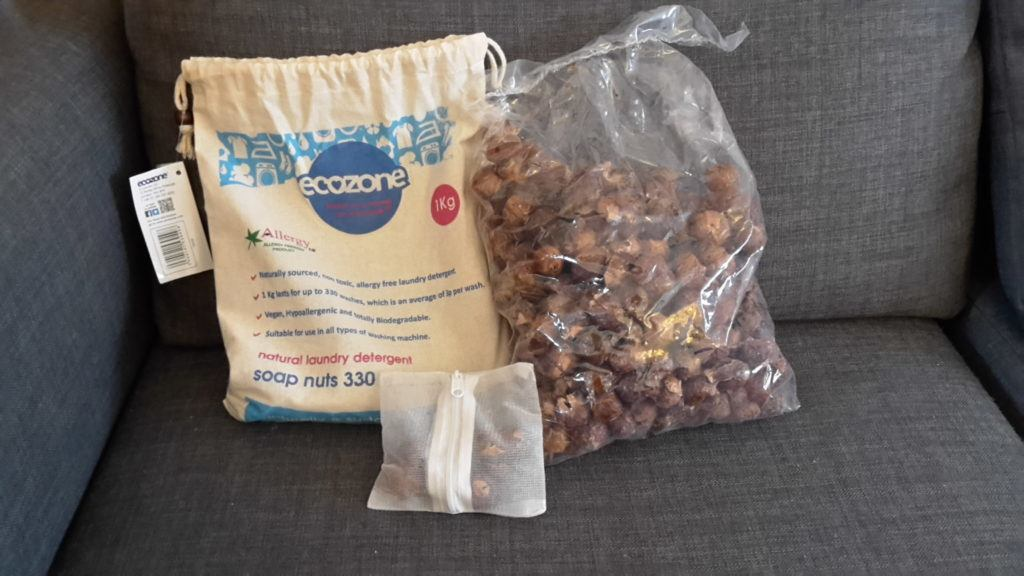 Soapnuts with plastic bag