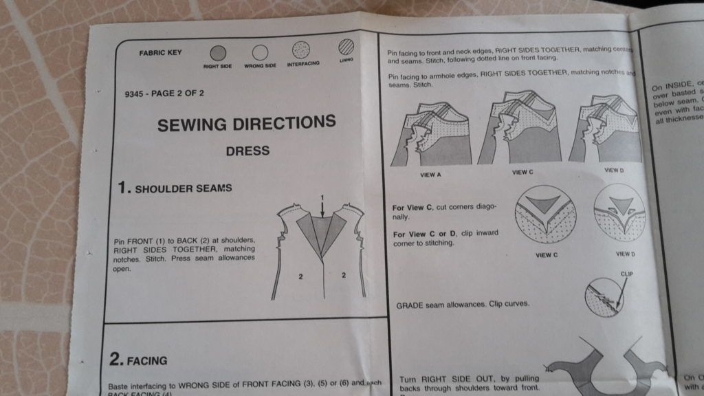2 hour dress instructions